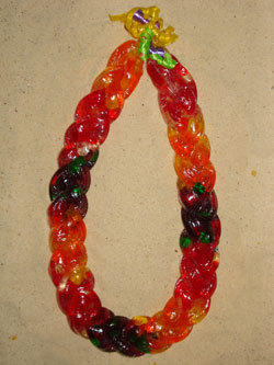 Double Braided Gummy Worm Lei