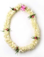 double tuberose with rose lei