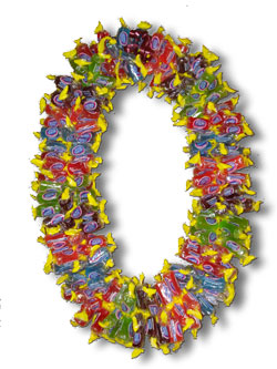 Giant Jolly Rancher Candy Lei - Graduation Leis