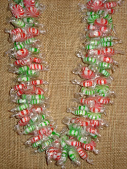 Peppermint Spearmint Christmas Lei - Candy Leis