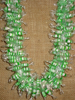 Spearmint Christmas Lei - Candy Leis