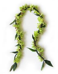 Ti Leaf and Green Orchid Lei